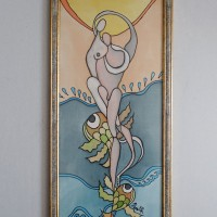Two and the sea, 30 / 63 cm, Circulation: Unique;