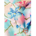 Hand Painted Silk Scarf Gentle orchids