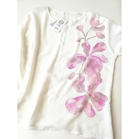 Ladies long-sleeved shirt Orchids