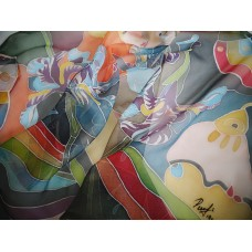 Hand Painted Silk Scarf Legend of Iris