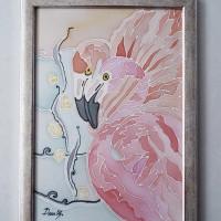 Pink flamingo,  29 / 40 cm, Circulation: Unique 2 of 2;