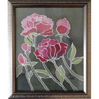 Peonies, Not available, 29 / 27 cm, Circulation: Unique 2 of 2;
