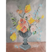 Roses and tulips, Not available, 40 / 50 cm, Circulation: Unique;