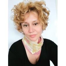 Fichu-Handpainted silk scarf Tender Roses