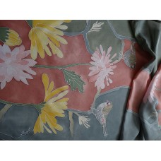 Hand Painted Large Silk Scarf Heavenly beauty Version 1