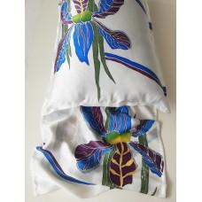 Set of two - Luxury 100% Natural silk satin pillowcases Irises