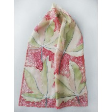 Hand Painted Small Silk Scarf Autumn