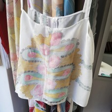 Botique handpainted woman silk tank top Roses Lux Variant 2